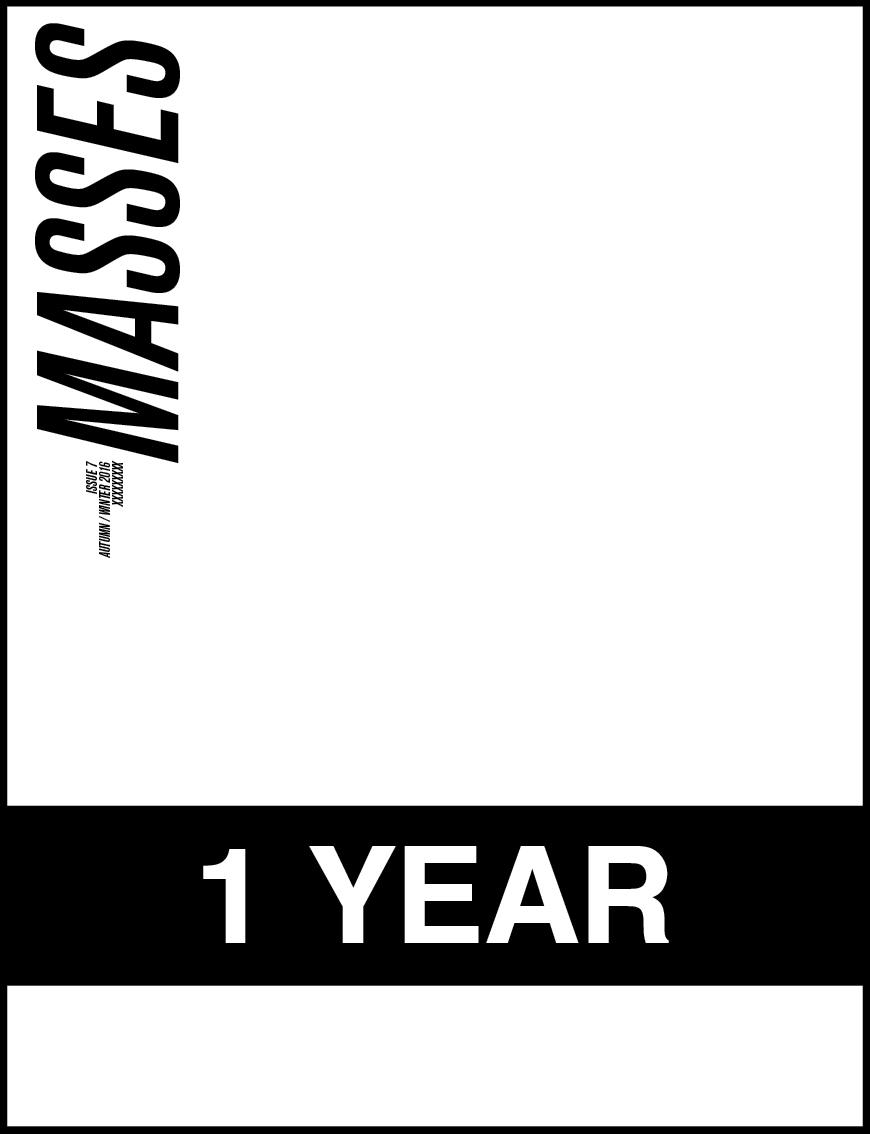 MASSES MAGAZINE SUBSCRIPTION