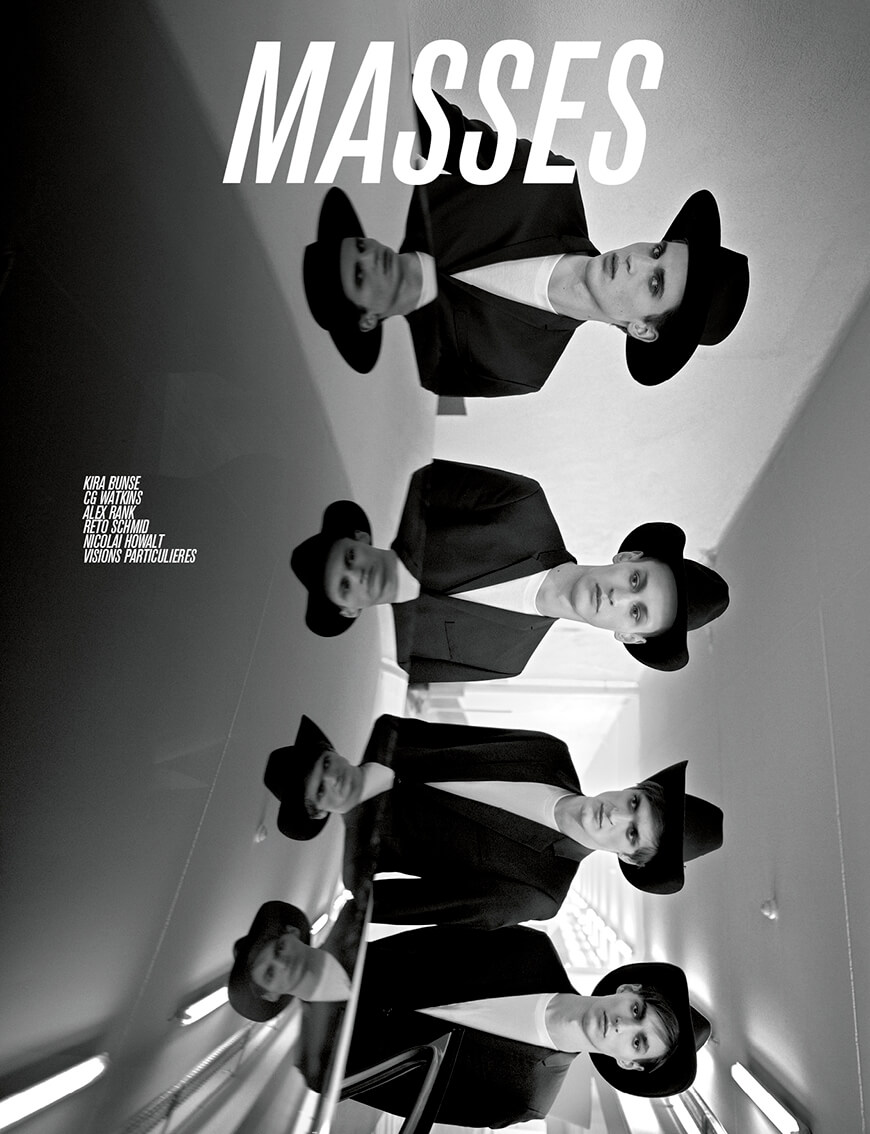 MASSES MAGAZINE ISSUE 1 COVER – JAMES GATENBY, WOJTEK CZERSKI, ADRIEN VOLKOV AND FELIX LALONDE PHOTOGRAPHED BY KIRA BUNSE