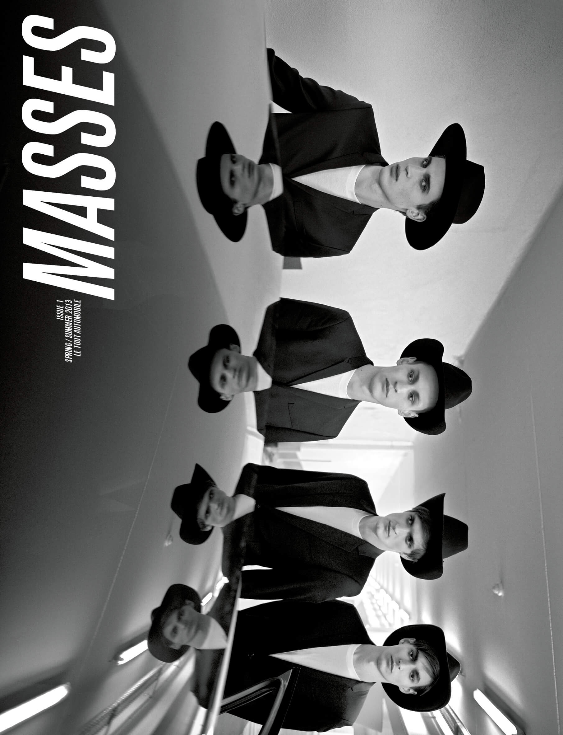 MASSES Magazine Issue No. 1 – Cover photographed by Kira Bunse with James Gatenby, Wojtek Czerski, Adrien Volkov and Felix Lalonde
