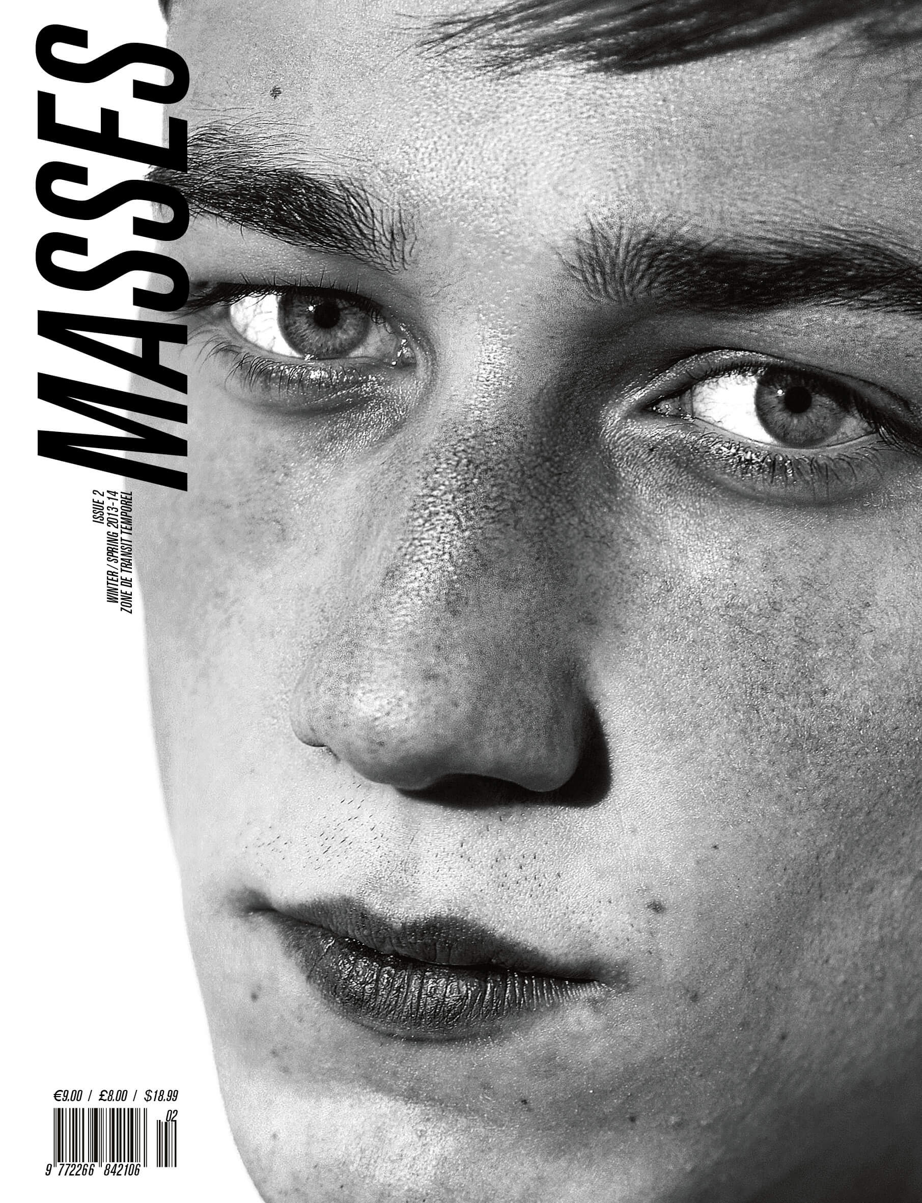 MASSES Magazine Issue No. 2 – Cover photographed by Kira Bunse and Eric Diulein & Sacha Quintin with Harvey James